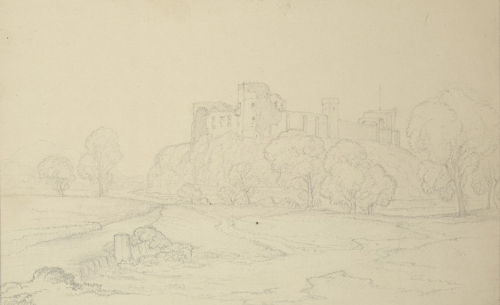 Drawing of Cockermouth Castle, by Edward Blore